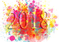 Happy New Year Greeting Card .Colorful backgrounds for design illustration Royalty Free Stock Photo