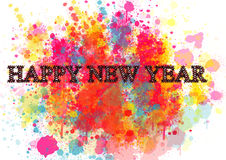 Happy New Year Greeting Card .Colorful backgrounds for design illustration Royalty Free Stock Image