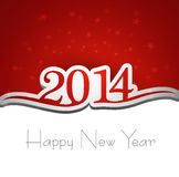 2014 Happy New Year greeting card. Colorful creative background Vector Illustration