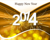 2014 Happy New Year greeting card colorful creativ. E background Royalty Free Illustration