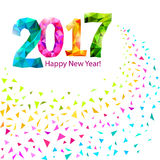 Happy New Year 2017 Stock Photography