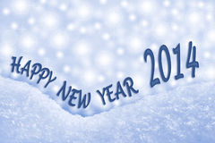 Happy New Year 2014 greeting card Stock Photography