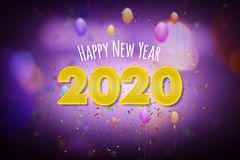 Happy New Year 2020, New Year greeting card concept