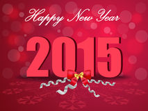 Happy New Year 2015, greeting card. Created Happy New Year 2015, greeting card in vector Stock Images