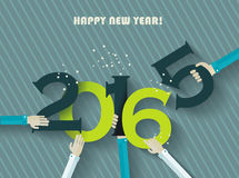 Happy new year 2016  greeting card. Happy new year 2016 creative greeting card design Stock Photography