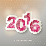Happy new year 2016  greeting card. Happy new year 2016 creative greeting card design Royalty Free Stock Images