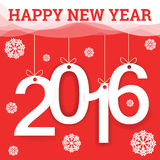 Happy New Year 2016 greeting card. Stock Image
