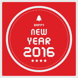 Happy new year 2016 greeting card2 Stock Images