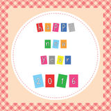 Happy new year 2016 greeting card. For decoration Stock Illustration