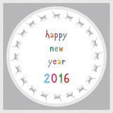 Happy new year 2016 greeting card6 Royalty Free Stock Photography