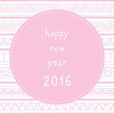 Happy new year 2016 greeting card8 Stock Photography