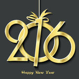 Happy new year 2016 greeting card. Design stock illustration