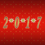 Happy New Year 2017. Greeting card design / Year 2017 Stock Photography