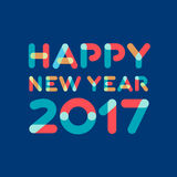 Happy new year 2017 greeting card. Design Stock Illustration