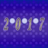 Happy New Year 2017. Greeting card design / Year 2017 Royalty Free Stock Photo