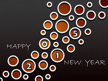 Happy New Year 2015, greeting card design with abstract holes. In the dark background Royalty Free Stock Photos
