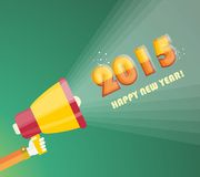 Happy new year 2015  greeting card design Stock Images
