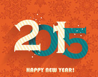 Happy new year 2015 greeting card design Royalty Free Stock Photography