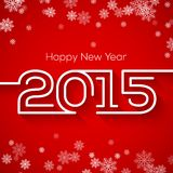 Happy new year 2015 greeting card design Stock Photo