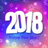 Happy New Year 2018 greeting card design Royalty Free Stock Photo