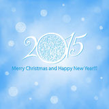 Happy New Year 2015. New year 2015 greeting card design - Illustration stock illustration