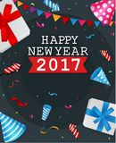 Happy New Year greeting card design. Illustration of Happy New Year greeting card design vector illustration