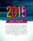 Happy new year 2015 greeting card design. Xmas. Poster template with empty place for your text royalty free illustration