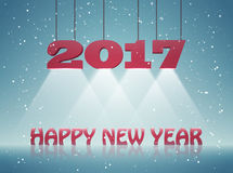 Happy New Year 2017 greeting card design for you. Vector illustration Royalty Free Stock Photography