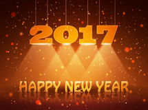 Happy New Year 2017 greeting card design for you. Vector illustration Royalty Free Stock Images