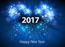 Happy New Year 2017 greeting card. Easy all editable stock illustration