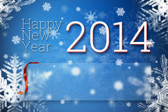 Happy new year 2014. Greeting card with empty space for your congratulation text Royalty Free Stock Photography