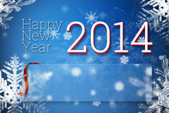 Happy new year 2014. Greeting card with empty space for your congratulation text Royalty Free Stock Image