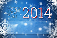Happy new year 2014 Royalty Free Stock Photography