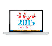 Happy new year greeting card for everybody. Happy new year background and greeting card design Stock Illustration