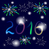 Happy New Year greeting card Royalty Free Stock Photography