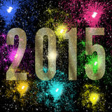 Happy New Year 2015 fireworks Royalty Free Stock Photos