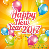 Happy New Year 2017. Greeting card full vector royalty free illustration