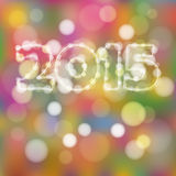 Happy new year greeting card with 2015 glitter lights, Royalty Free Stock Photos