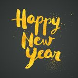 Happy New Year greeting card with gold dust texture. Happy New Year greeting card with gold dust texture - No mesh - Vector EPS10. For your print and web Stock Photo