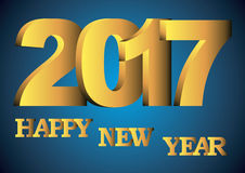 Happy new year 2017 greeting card Stock Photos