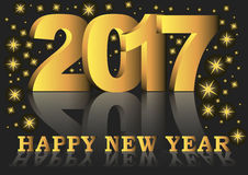 Happy new year 2017 greeting card Stock Photo
