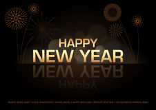 Happy New Year Greeting Card Royalty Free Stock Photos
