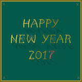 Happy New Year 2017. Greeting card Royalty Free Stock Photo