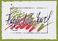 Happy New Year greeting card Stock Images