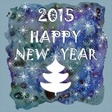 Happy New Year Greeting Card. Happy holidays background with snowflakes. Royalty Free Stock Photo