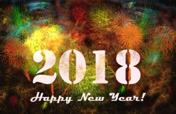 2018 Happy New Year. Greeting card Royalty Free Stock Images