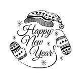 Happy new year greeting card. Vector illustration. Happy new year greeting card royalty free illustration