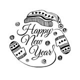 Happy new year greeting card. Vector illustration. Happy new year greeting card vector illustration