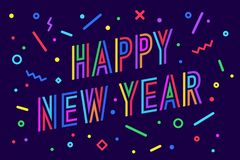 Happy New Year. Greeting card Happy New Year Stock Images