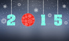 Happy New Year greeting card 2015. Stock Photography